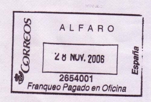 Gora de filatelia ver tema marca franqueo pagado en for Oficina correos vitoria